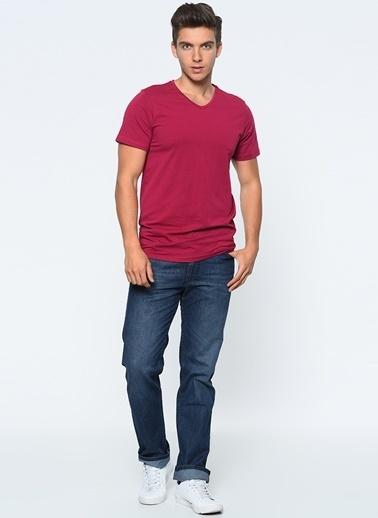 Lee Cooper V Yakalı Tişört Pembe